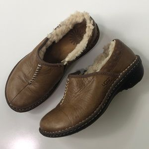 UGG Bettey Leather Brown Slip On Shoes
